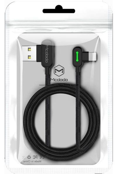 Mcdodo 90 Derece Type-C Kısa Şarj Data Kablosu 0.5 m