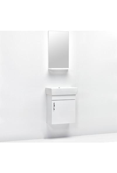 Hepsi Home Saydam Ebeveyn Slim 50 cm Mdf Banyo Dolabı Beyaz
