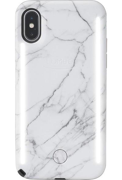 Lumee Duo iPhone X White Marble 2