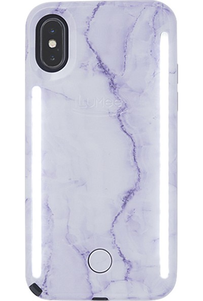 Lumee Duo iPhone X Lavender Marble 2