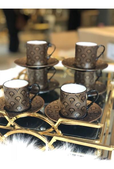 Lucca Home Dafne 6'lı Kahve Fincan Takımı