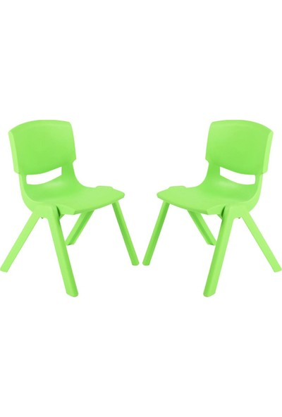 Banadabul Fiore Büyük Şirin Çocuk Sandalyesi Açık Yeşil 2Li Paket 3-7 Yaş İçin
