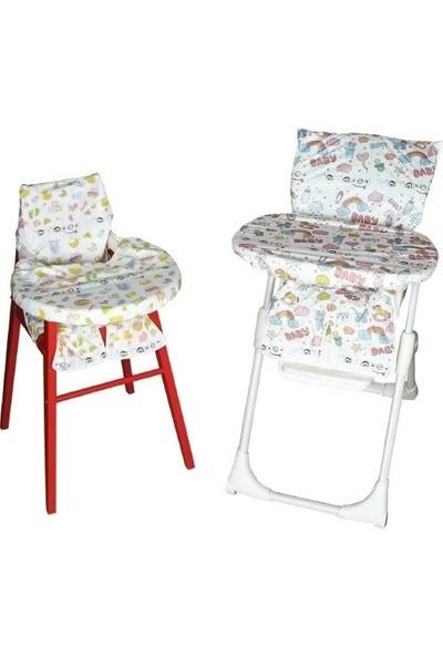 Mamaped Tek Kullanımlık Mama Sandalyesi Oturak ve Masa Kılıfı 5'li Set