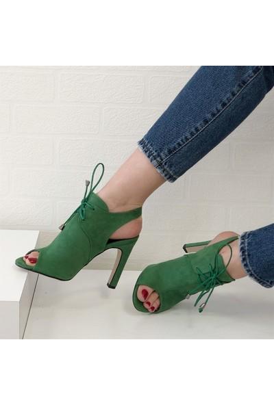 Mio Gusto Tanya Yeşil Topuklu Ayakkabı