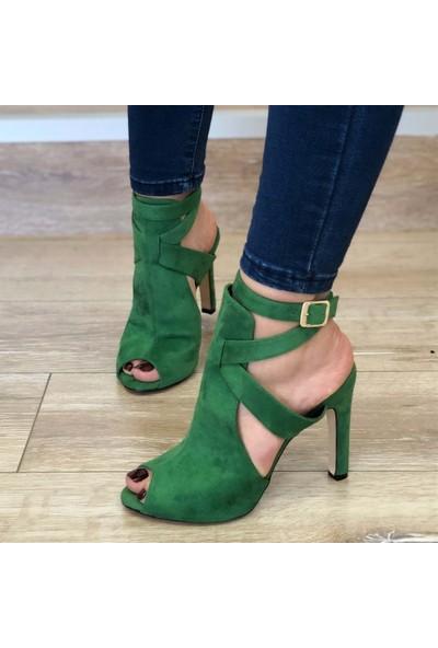 Mio Gusto Fever Yeşil Topuklu Ayakkabı