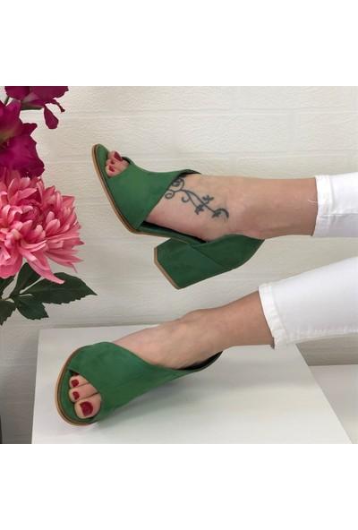 Mio Gusto Dafne Yeşil Topuklu Ayakkabı