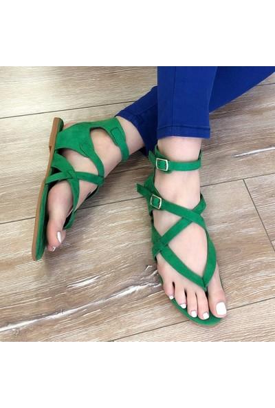 Mio Gusto Ella Yeşil Parmak Arası Sandalet