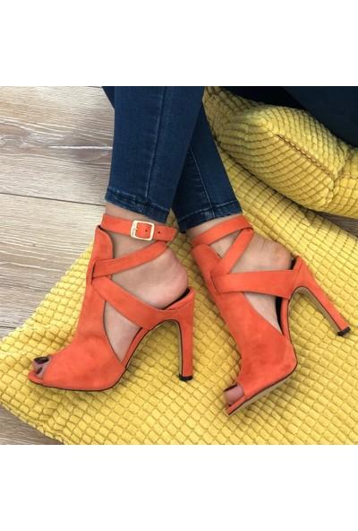 Mio Gusto Fever Turuncu Topuklu Ayakkabı