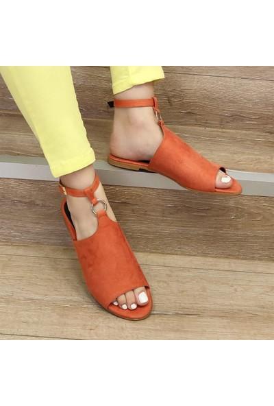 Mio Gusto Ruby Turuncu Sandalet