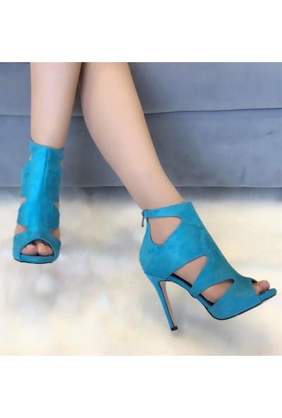 Mio Gusto Mina Turkuaz topuklu Ayakkabı