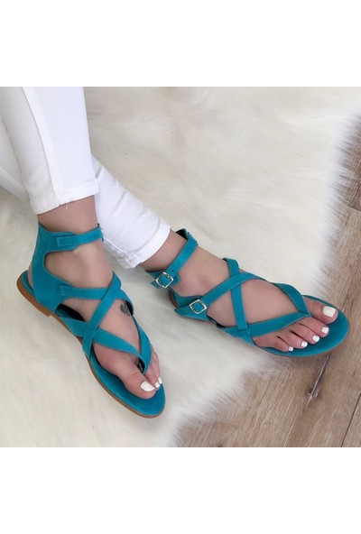 Mio Gusto Ella Turkuaz Parmak Arası Sandalet