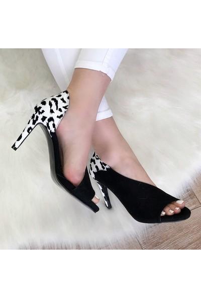 Mio Gusto Alberta Leopar Topuklu Ayakkabı