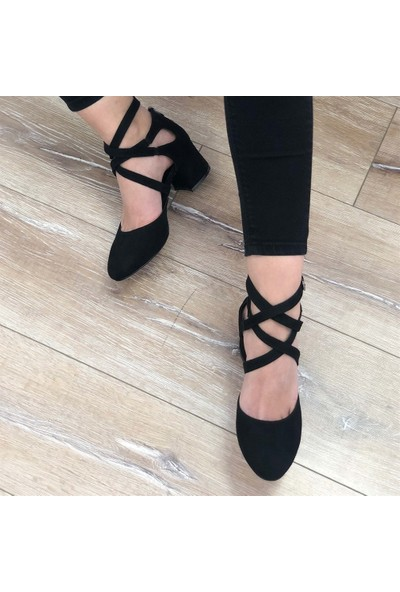 Mio Gusto Nina Siyah Topuklu Ayakkabı