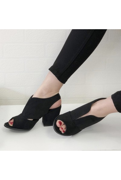 Mio Gusto Queen Siyah Topuklu Ayakkabı