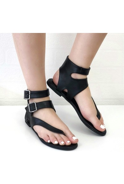 Mio Gusto Mimoza Siyah Parmak Arası Sandalet
