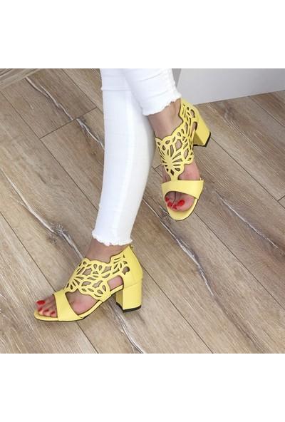 Mio Gusto Stella Sarı Topuklu Ayakkabı