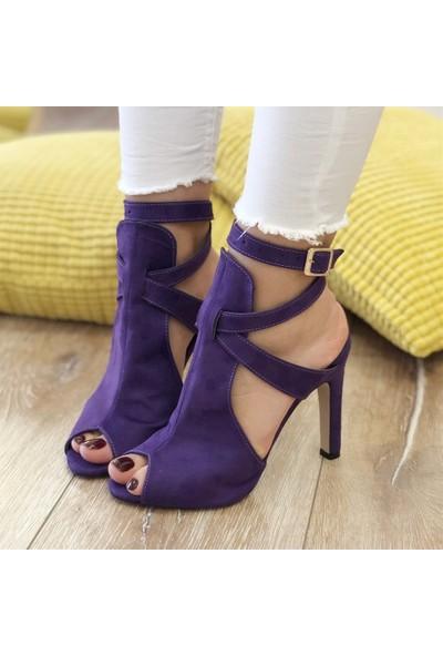 Mio Gusto Fever Mor Topuklu Ayakkabı