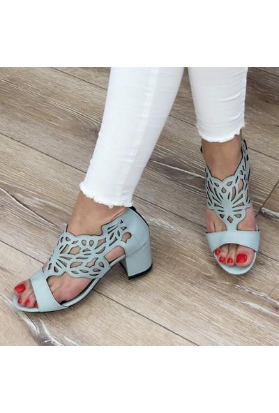 Mio Gusto Stella Mavi Topuklu Ayakkabı