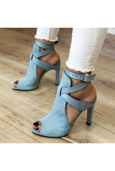 Mio Gusto Fever Mavi Topuklu Ayakkabı