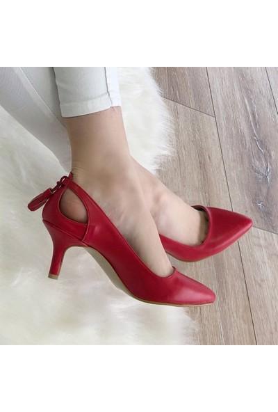 Mio Gusto Drop Kırmızı Kısa Topuklu
