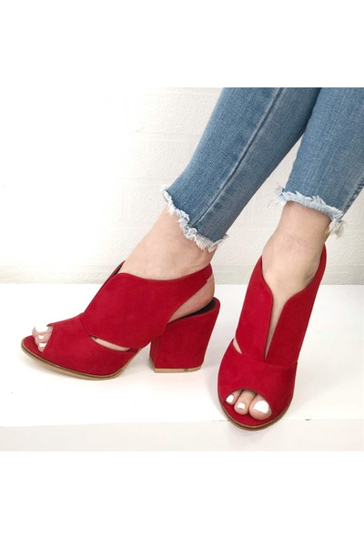Mio Gusto Queen Kırmızı Topuklu Ayakkabı