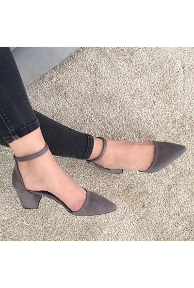 Mio Gusto Cristina Gri Topuklu Ayakkabı