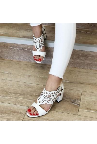 Mio Gusto Stella Beyaz Topuklu Ayakkabı