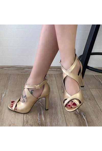 Mio Gusto Cyntia Altın Abiye Ayakkabı