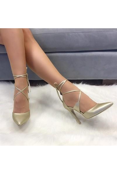 Mio Gusto Carmen Altın Abiye Ayakkabı