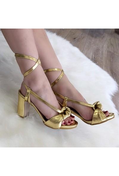 Mio Gusto Margaret Altın Abiye Ayakkabı