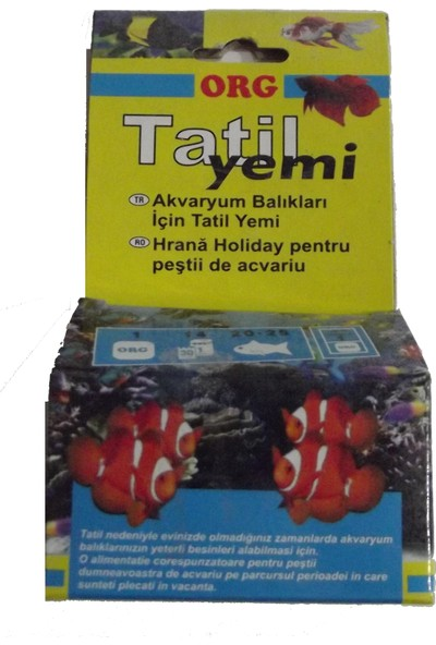 Org Akvaryum Balığı Tatil Yemi̇
