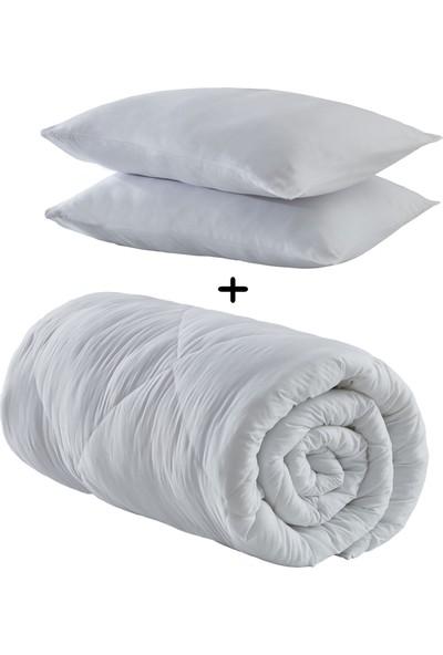Komfort Home Battal Boy Microfiber Yorgan +2 Yastık 215x230 Cm