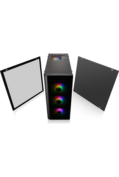 Thermaltake View 21 Tempered Glass RGB Plus Edition Çift Pencereli Oyuncu Kasası (CA-1I3-00M1WN-05)