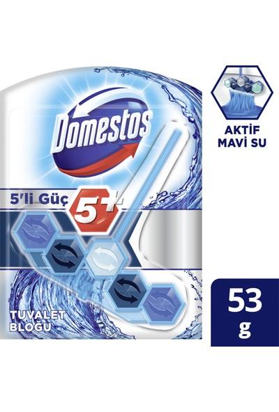 Domestos WC Blok 5'li Güç Aktif Mavi Su