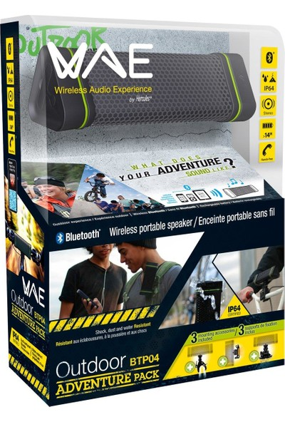 Hercules WAE Outdoor BTP04 Adventure Pack Bisiklet Aparatlı Bluetooth Speaker Hoparlör