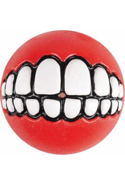Rogz Köpek Gülen Diş Desenli Top Kırmızı Small 4,9 Cm