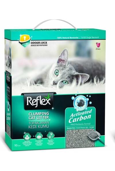 Reflex Reflex Aktif Karbonlu Topaklanan Kedi Kumu 10Lt