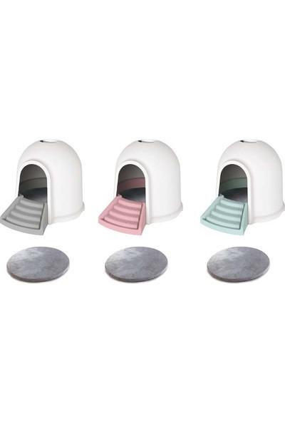 M-Pets Kedi Tuvalet İglo 2 İn 1 Beyazpembe 45,7*59,7*43,