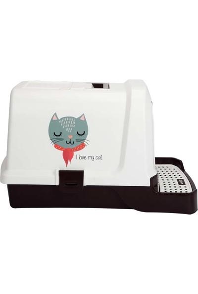 M-Pets Kedi Tuvalet Kedi Aşkı Desenli 69*42*41