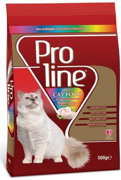 Proline Proline Renkli Taneli Tavuklu Kedi Maması 500 Gr