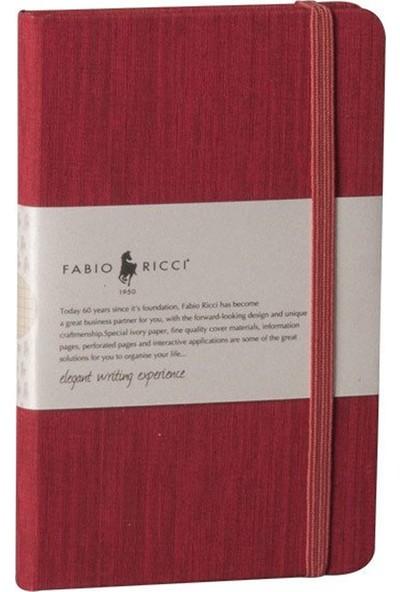 Fabio Ricci 1044 Alttan Lastlikli Kırmızı Kareli Defter