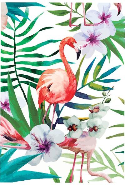 Deffter Lovely Spr Flamingo Flowers 64715-6