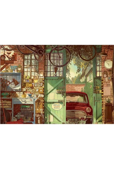 Educa Puzzle 1500 Parça Old Garage Arly Jones 18005