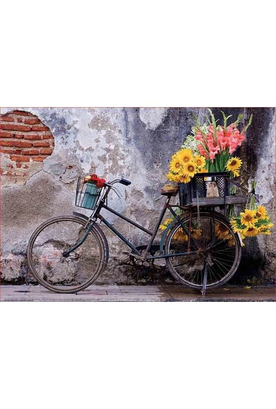 Educa Puzzle 500 Parça Bicycle With Flowers 17988