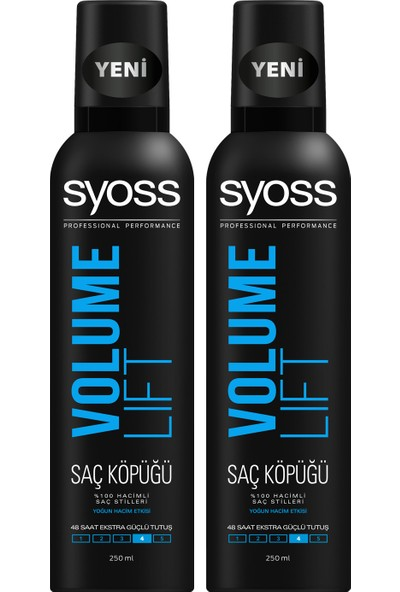 Syoss Pure Volume Saç Köpüğü x 2 Adet