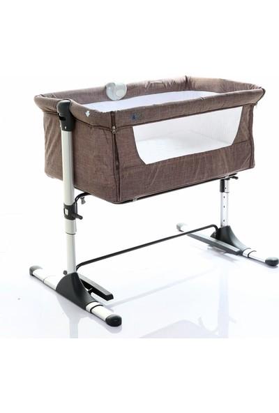 Baby&Plus Safe Side Anne Yanı Beşiği - Kahverengi