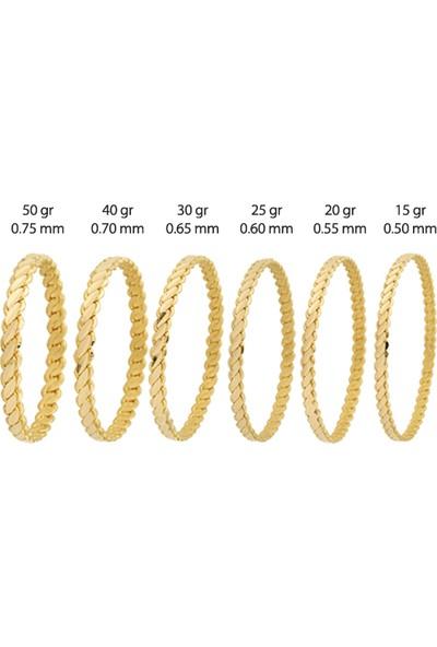 Altında Fırsat 50 gram 22 Ayar 3'lü Burma Altın Bilezik