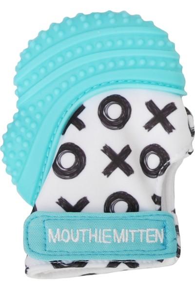 Mouthie Mitten Diş Kaşıyıcı Eldiven Mavi XOX Desenli
