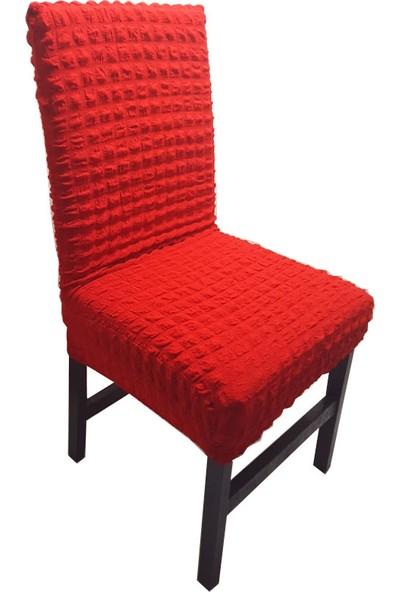 Avantaj Home Bürümcük Sandalye Kılıfı 6'lı Takım Kırmızı
