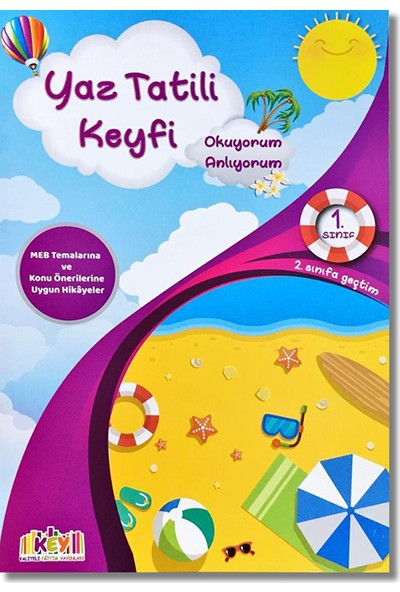 Key 1. Sınıf Yaz Tatili Keyfi + Fasikül Soru Bankası (2. Sınıfa Geçtim)